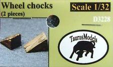 Taurus Models 1:32 Wheel Chocks D3228 (2 Pieces) *NEW!* Wingnut Wings