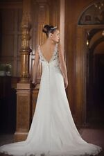 Polyester Boat Neck Regular Size Wedding Dresses