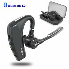 Bluetooth Hands Free Single Ear Wireless Headset with Active Noise Cancelling