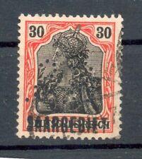 Saar Firmenlochung Perfin Postmarked (G5057