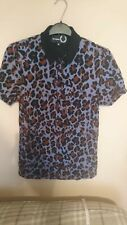 *RARE* Fred Perry x Raf Simons Leopard Panther polo shirt Miles Kane Mod