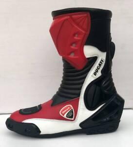 DUCATI Motorcycle Riding Shoe-Long Motorbike Leather Boots-Waterproof/Road Boot