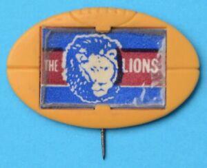 VFL Club Mascot Football Badge Fitzroy LIONS 1968 MILO FOOTY Pin