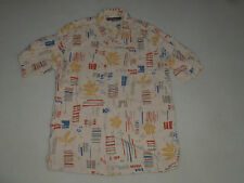 VINTAGE HONOLULU TORI RICHARD HAWAIIAN BUTTON UP SHIRT 100% SILK MENS SIZE XL