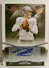 DEREK CARR AUTO AUTOGRAPH DONRUSS SIGNATURE SERIES FOOTBALL 2015