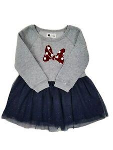 Gap Disney Minnie Size 3 Princess Gray Navy Sparkle Dress