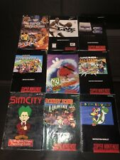 Lot of 9 SNES Game Manuals Super Nintendo Instruction Booklets