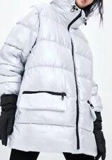 Zara Silver Puffer Ski Limited Edition Coat S/m Brand New