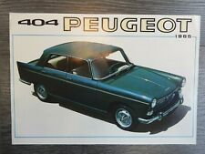 CATALOGUE PROSPEKT BROCHURE PEUGEOT 404 DE 1965
