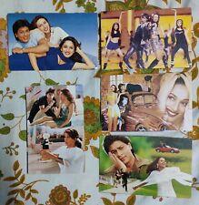 Lot 30 Rare Bollywood Madhuri Dixit Shahrukh Postcard Postcards Post Card P12