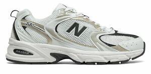 NEW BALANCE 530 UNI Blanc Or Baskets Femme Sneakers White Gold Metallic MR530UNI