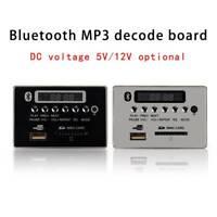 5V/12V Car Bluetooth Wireless MP3 Decoder Board Audio Module USB/SD/TF FM Radio