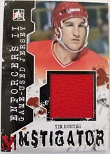 2012-13 Leaf ITG Enforcers II Series Tim Hunter 1/1 Vault PATCH Hockey Card
