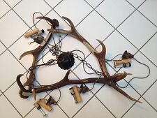 Hirschgeweih-Lampe Geweihlampe Geweihleuchte Deckenlampe Jagdhütten Kronleuchte