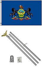 2x3 2'x3' State of Pennsylvania Flag Aluminum Pole Kit Set