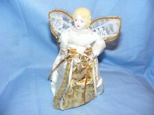 Christmas Fairy Angel Tree Top Decoration Plastic and Material Netting