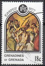 Grenada Briefmarke Karibik gestempelt Ostern El Greco Maler Griechenland / 109