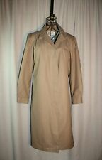 Vintage London Fog Maincoats Tan Trench Coat Ruched Collar Size M/L
