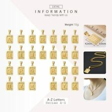Initial Letter Pendant Name Necklace Yellow Gold Letter for Best Friend Jewelry