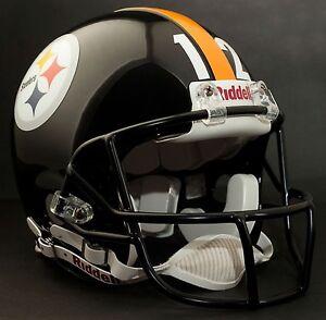TERRY BRADSHAW Edition PITTSBURGH STEELERS Riddell REPLICA Football Helmet NFL