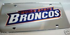 Boise State LASER Acrylic MIRROR  LICENSE PLATE Very Rare Sport Room Must