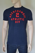New abercrombie & fitch saranac lake athletic inspiré bleu marine tee t-shirt s