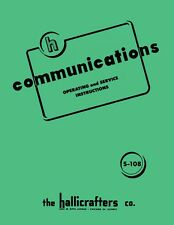 Hallicrafters S-108 S108 Communications Receiver Manual