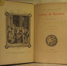 CONTES de BOCCACE  illustrations en noir de J. Wagrez BEL EXEMPLAIRE