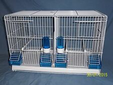 BRAND NEW ITALIAN WIRE DOUBLE BREEDING CAGES , CANARY , BUDGIE , FINCH ETC