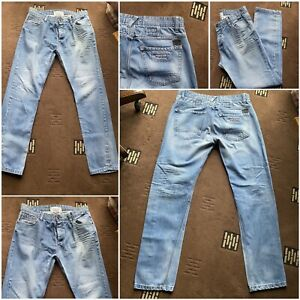 """George vintage inspired casual wear jeans button fly W 38 inside leg 34""""    (76)"""