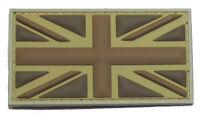 BRITISH FLAG UK GREAT BRITAIN UNION JACK DESERT 3D PVC MILITARY BADGE PATCH
