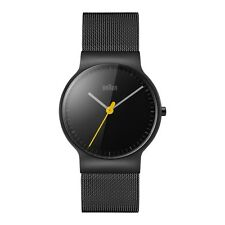Braun BN0211BKMHL Mens Classic Slim Black Steel Bracelet Watch RRP £170