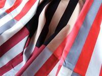 RED GREY BLACK bold STRIPES 100% COTTON FABRIC meter craft patchwork dressmaking