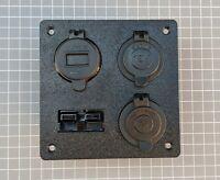 Anderson Plug 4 Outlets Flush Mount Plate Merit 12V