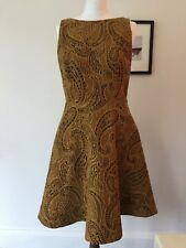 ALICE & OLIVIA paisley print dress in gold and black. Stunning! UK size 14. BNWT