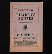 Opc 1937 Prix Courant Switzerland 32pg Catalog in french