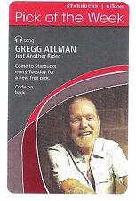 Starbucks Music Card (Expired) - Allman Brothers Singer Songwriter Greg Allman