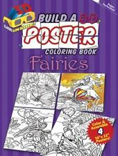 Dover BUILD A 3-D POSTER FAIRIES Adult Coloring Book Jan Sovak New 2012