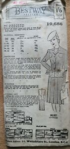 1940's PLEATED SKIRT by BESTWAY