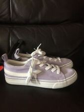Primark Ladies Lilac Girls Trainer Shoe Flat Lace Up  Skater Pumps Shoes Size 3