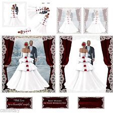 WEDDING   DECOUPAGE = 3  X A4 DECOUPAGE SHEETS(JAN 2015)JEMINI'S CRAFT'S
