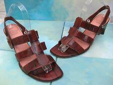 Circa Joan & David CEL Rust Croc Embossed Leather Slingback Sandals Wms 8 M
