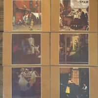 Set of 6 Norman Rockwell Laminated Placemats Saturday Evening Post Vintage