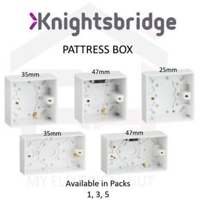 Pattress Box Wall Socket Back Box 25mm 35mm 47mm Single Double