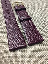 20mm BURGUNDY STRAP  AUSTRIA HIRSCH RAINBOW  GENUINE LEATHER WATCH BAND  VINTAGE
