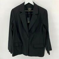 Dalia Women's Size 2X Black Blazer Jacket One Button Career Casual NEW