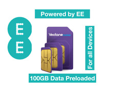 Vectone Powered by EE Data Sim card,Preloaded with 100GB Data for Unlock Dongles
