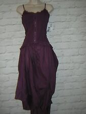 SISLEY PURPLE ASYMMETRIC  DRESS  SIZE S FITS UK 8-10  NEW GOTH STEAMPUNK