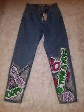 NWT,Womens Topshop Moto MOM Graffiti  jeans  SIZE 26, High waisted