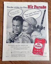 1957 Hit Parade Cigarette Ad  Couple Fishing Theme